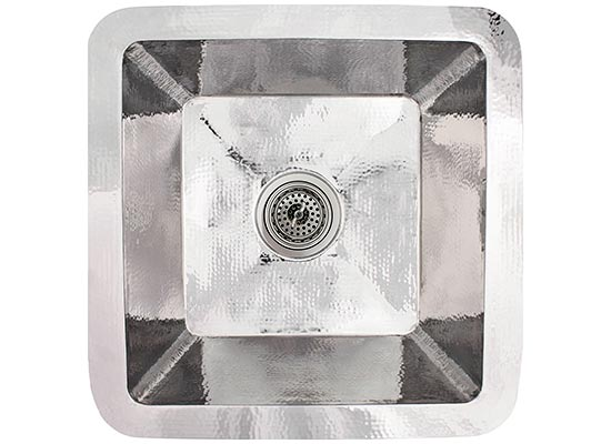 Linkasink Kitchen Sinks - Linkasink C006-PS Small Square Stainless Steel Prep Sink - Polished