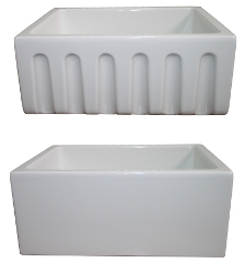 "LaToscana Kitchen Sinks - Fireclay Farmhouse - LAT-R2418W - 24"" Reversible Fireclay Sink - White"