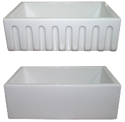 "LaToscana Kitchen Sinks - Fireclay Farmhouse - LF3018W - 30"" Reversible Fireclay Sink - White"