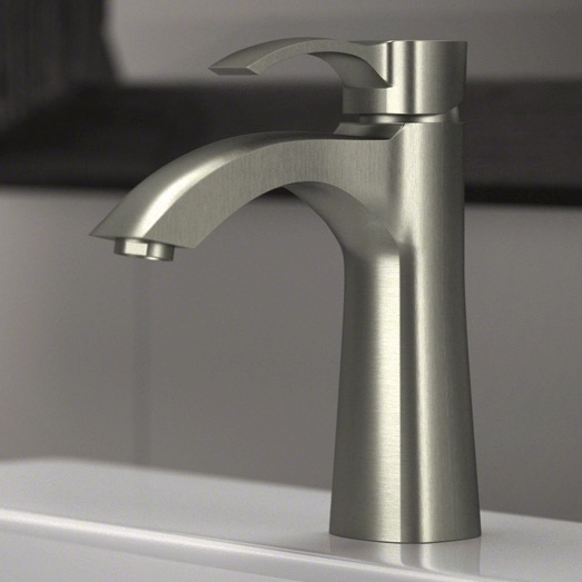 Wave Faucets - Bathroom Faucets - 725-BN Vessel Faucet - Brushed Nickel