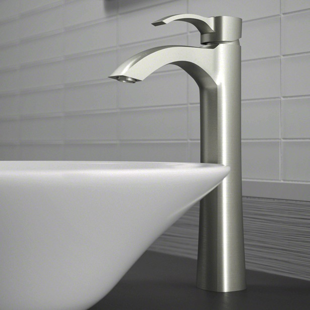 Wave Faucets - Bathroom Faucets - 726-BN Vessel Faucet - Brushed Nickel