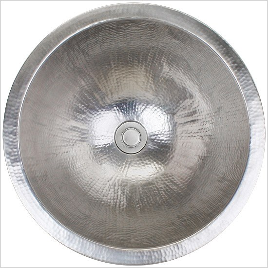 Linkasink Bathroom Sinks - Stainless Steel - C002-SS Large Round Sink - Satin Stainless Steel
