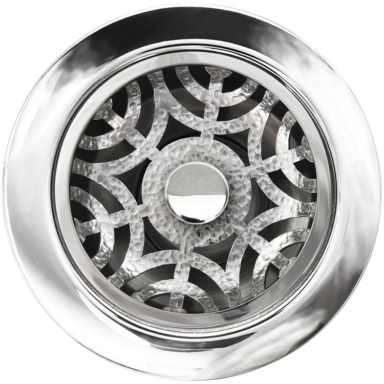 "Linkasink Drain - Kitchen D071 PH Maze Disposal flange kit 3.5"" Polished Hammered"