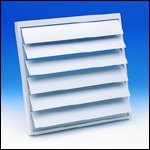 "Fantech VK 35 - Louvered Shutter 14 3/4"" Square Opening - For 12"" or 14"" Duct"