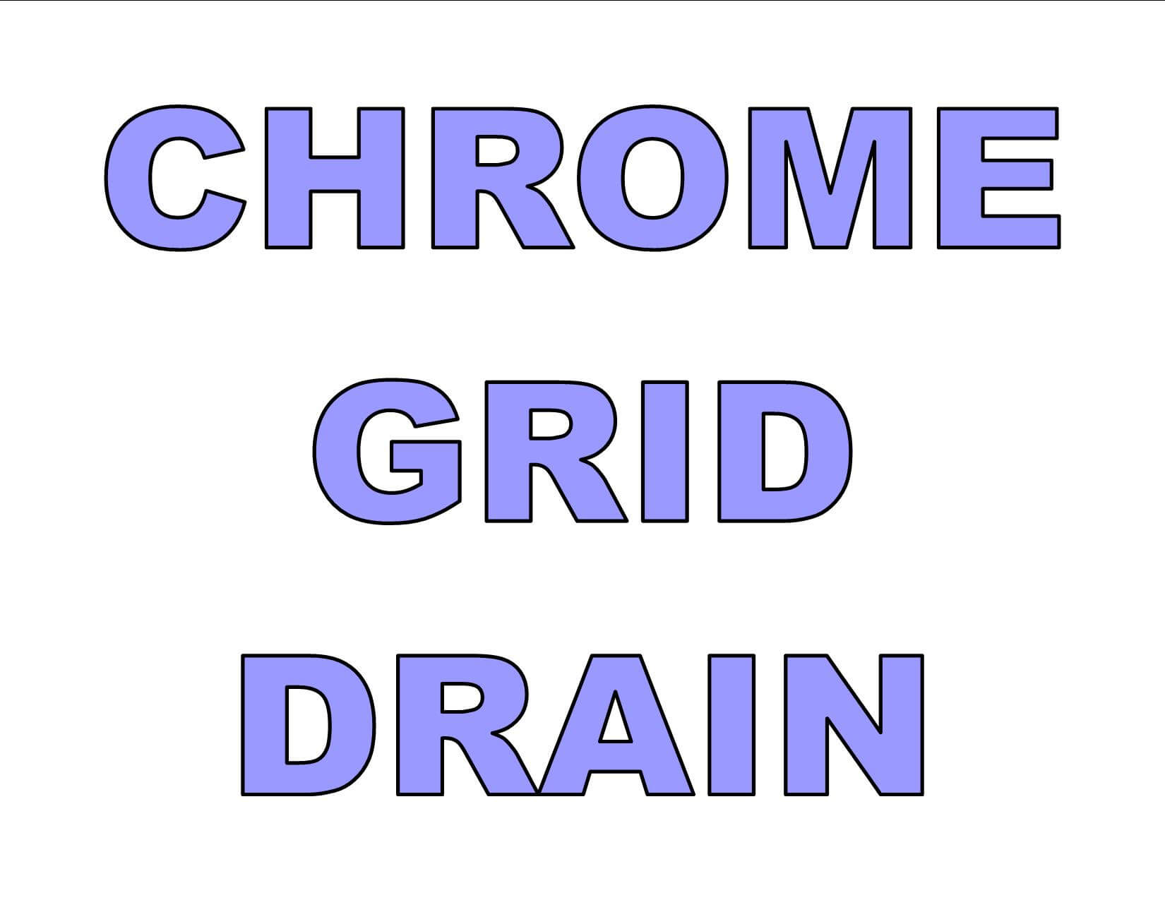"1 1/2"" Grid Drain Polished Chrome - GD CH"