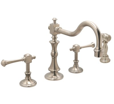 Huntington Brass Kitchen Faucets - Platinum Series K2560302 - Monarch Widespread with Sidespray - PVD Satin Nickel