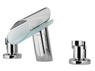 LaToscana by Paini Bathroom Faucets - Morgana 73CR214VR 8 Widespread  Lavatory Faucet - Chrome & Glass - Wave Plumbing Supply