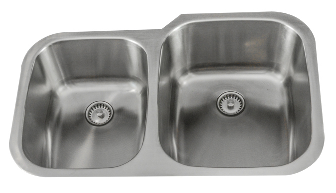 Lenova Kitchen Sinks - Stainless Steel - Permaclean - PC-SS-CL-D2R-16 - Brushed Satin