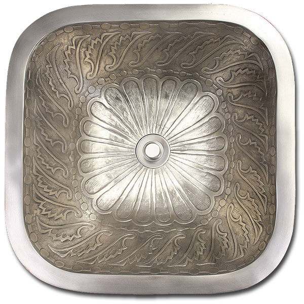 "Linkasink Bathroom Sinks - Bronze - B020 Square Wing 14"" - 4 Finishes"