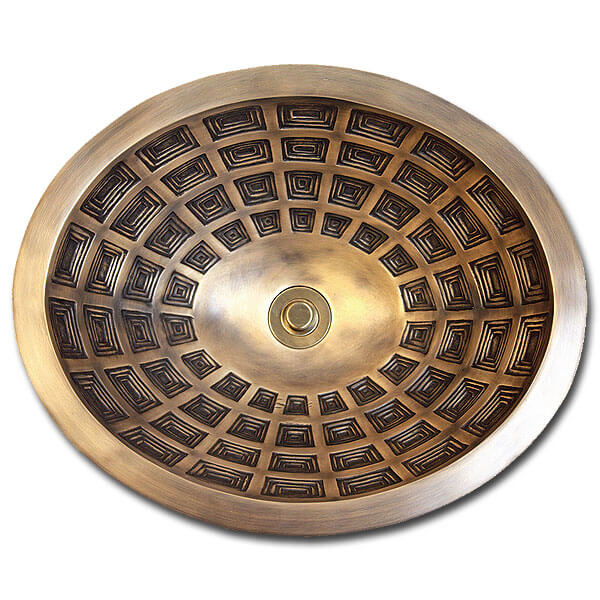 Linkasink Bathroom Sinks - Bronze - B036 Pantheon Bowl Oval - 4 Finishes