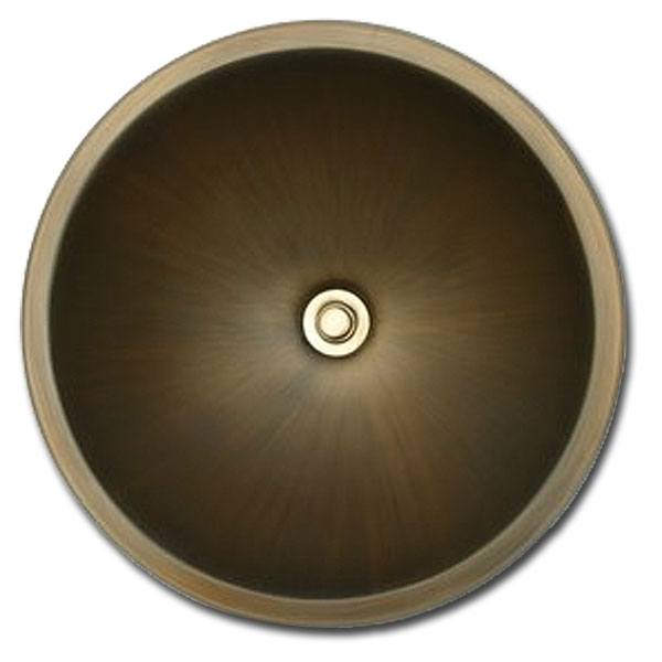 Linkasink Bathroom Sinks - Bronze - BR001 Round Smooth Small - 4 Finishes