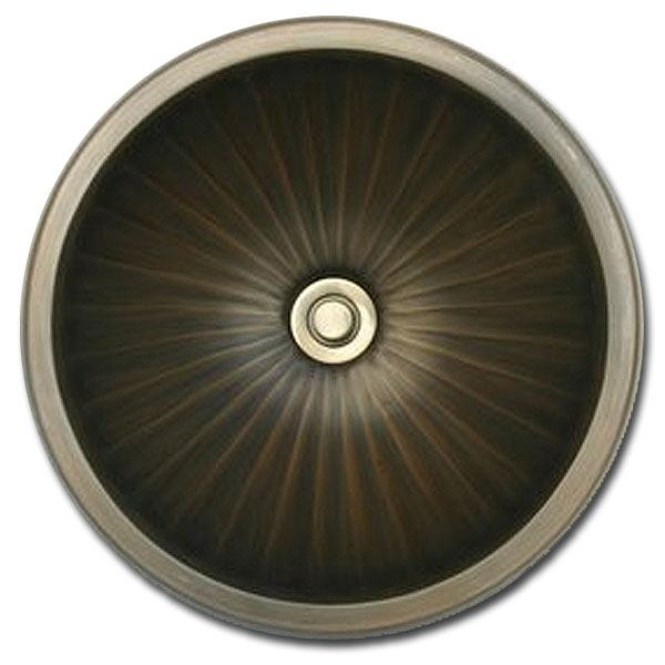 Linkasink Bathroom Sinks - Bronze - BR004 Round Sink Large (Fluted) - 4 Finishes