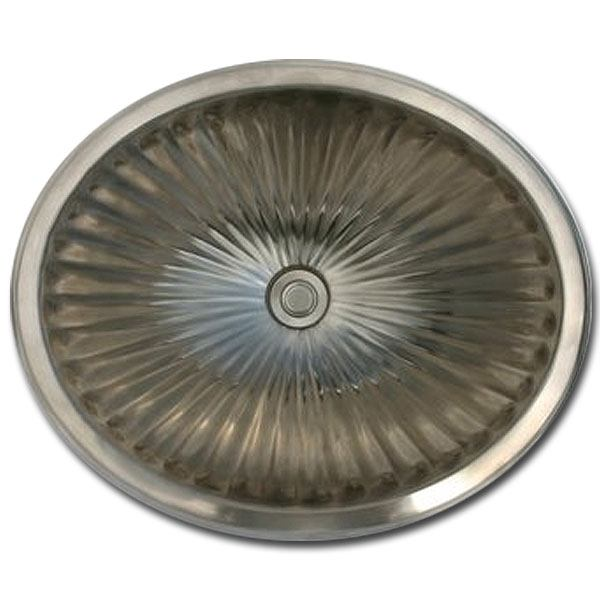 Linkasink Bathroom Sinks - Bronze - BR006 Oval Sink - Fluted - 4 Finishes - Click Image to Close
