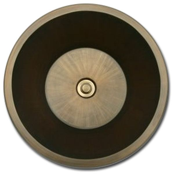 Linkasink Bathroom Sinks - Bronze - BR007 Round Flat Bottom (Smooth) - 4 Finishes