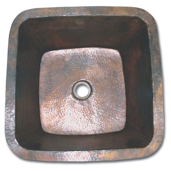 Linkasink Kitchen Sinks - C006 Copper - Small Square Prep Sink 2
