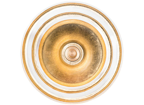 Linkasink Bathroom Sinks - Glass - AG07H Large Banded Églomisé - Gold