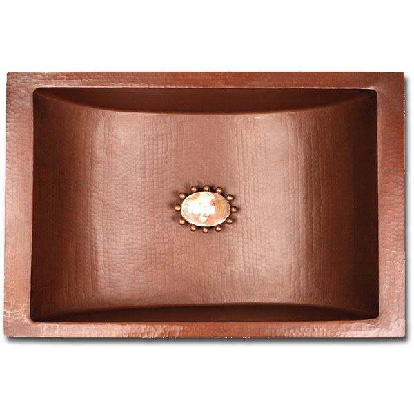 "Linkasink Bathroom Sinks - Copper (Nickel Plate) - C052 SN Rectangle - 18 x 12 x 6 with 1.5"" Drain - 6 Finishes - Satin Nickel"