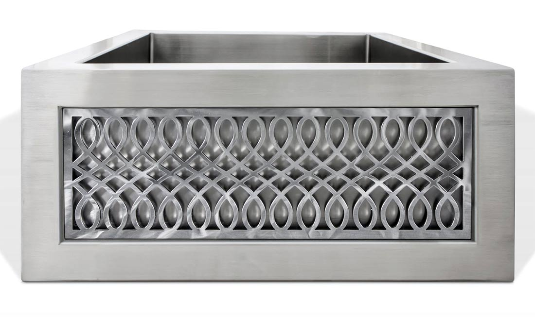 Linkasink Kitchen Farmhouse Sinks - Linkasink C073-3.5-SS Stainless Steel Inset Apron Front Bar Sink - Smooth Finish - No Inset Panel