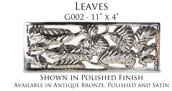 Linkasink Bathroom Sinks - Vintage Jeweler Grate - Leaves Grate for P008 Tiffany Jewelers Sink