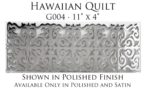Linkasink Bathroom Sinks - Vintage Jeweler Grate - G004 Hawaiian Quilt Grate for P008 Tiffany Jewelers Sink