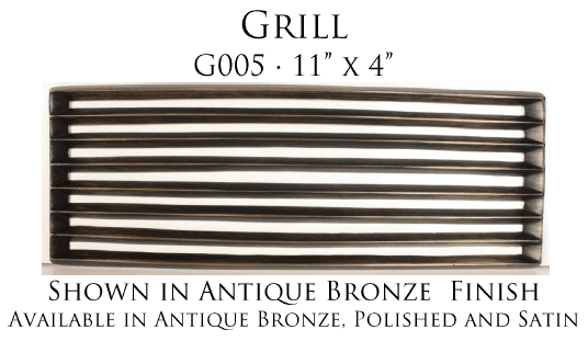 Linkasink Bathroom Sinks - Vintage Jeweler Grate - G005 Grill Grate for P008 Tiffany Jewelers Sink