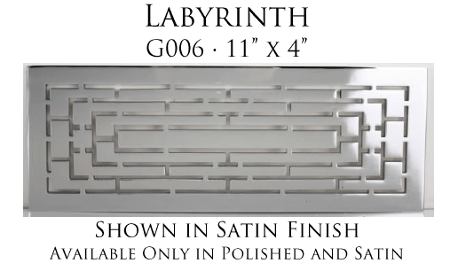Linkasink Bathroom Sinks - Vintage Jeweler Grate - G006 Labyrinth Grate for P008 Tiffany Jewelers Sink