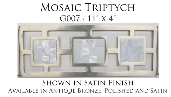 Linkasink Bathroom Sinks - Vintage Jeweler Grate - G007 Mosaic Triptych Grate for P008 Tiffany Jewelers Sink