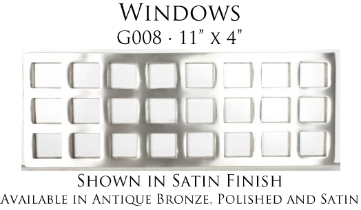 Linkasink Bathroom Sinks - Vintage Jeweler Grate - G008 Windows Grate for P008 Tiffany Jewelers Sink
