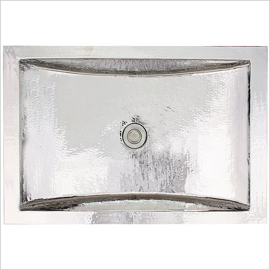 Linkasink Bathroom Sinks - Stainless Steel - C052-SS Rectangular Crescent Sink - Satin Stainless Steel
