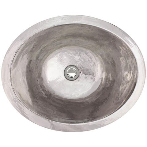 Linkasink Bathroom Sinks - Stainless Steel - C023-PS Small Oval Sink - Polished Stainless Steel