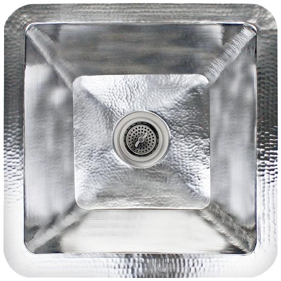 Linkasink Kitchen Sinks - C006-SS Stainless Steel - Small Square Prep Sink - Satin
