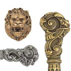 Edgar Berebi - Decorative Hardware Collection - Lion in Winter