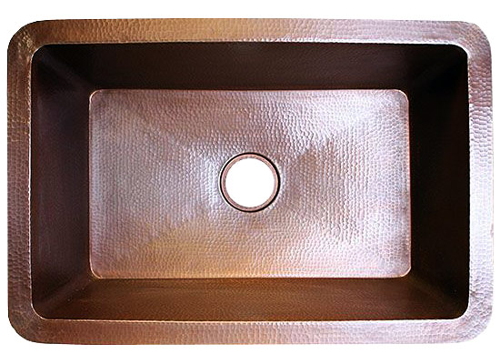 "Linkasink Kitchen Sinks - C010 Copper Sink - 3.5"" Drain"