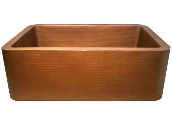 Linkasink Kitchen Farmhouse Sinks - C020 Apron Front Kitchen Copper Sink