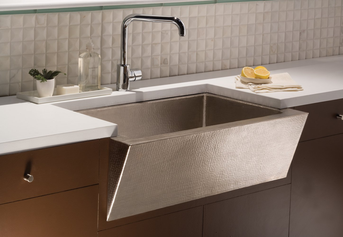 Native Trails Kitchen Sinks - Copper - Zuma CPK590 - Brushed Nickel Finish
