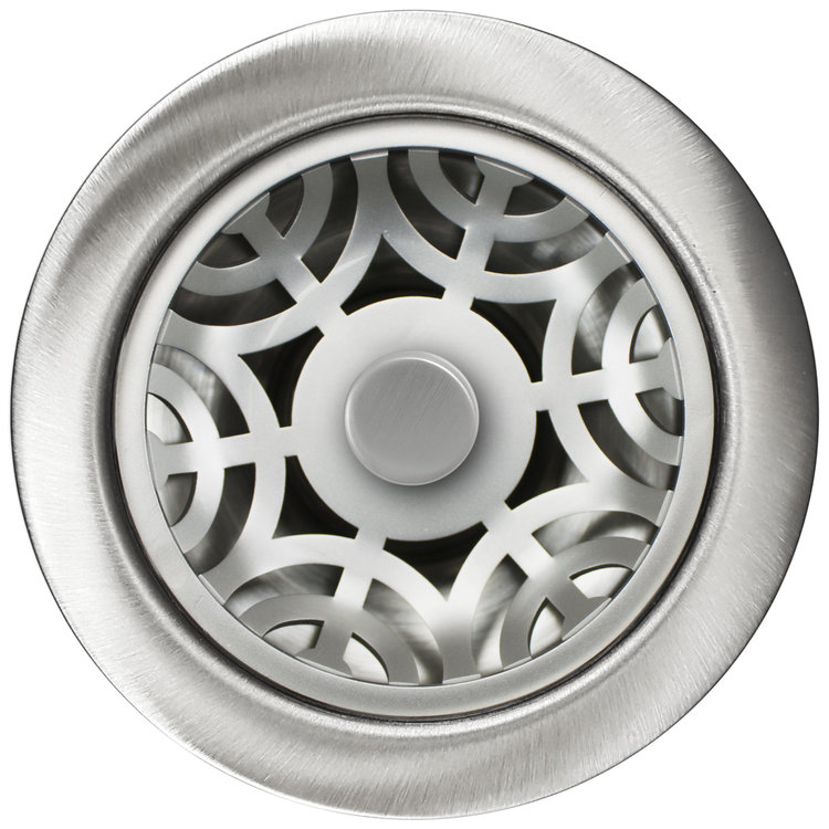 Linkasink Drain - Kitchen D071 SS Maze 3.5 inch Disposal Flange Kit Satin smooth