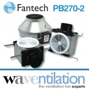 Fantech Bathroom Fan PB270-2 - Vent Only Dual Grille 270 cfm