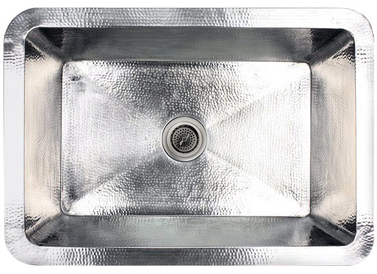 "Linkasink Kitchen Sinks - C010-SS Stainless Steel - Hammered Sink - 3.5"" Drain"