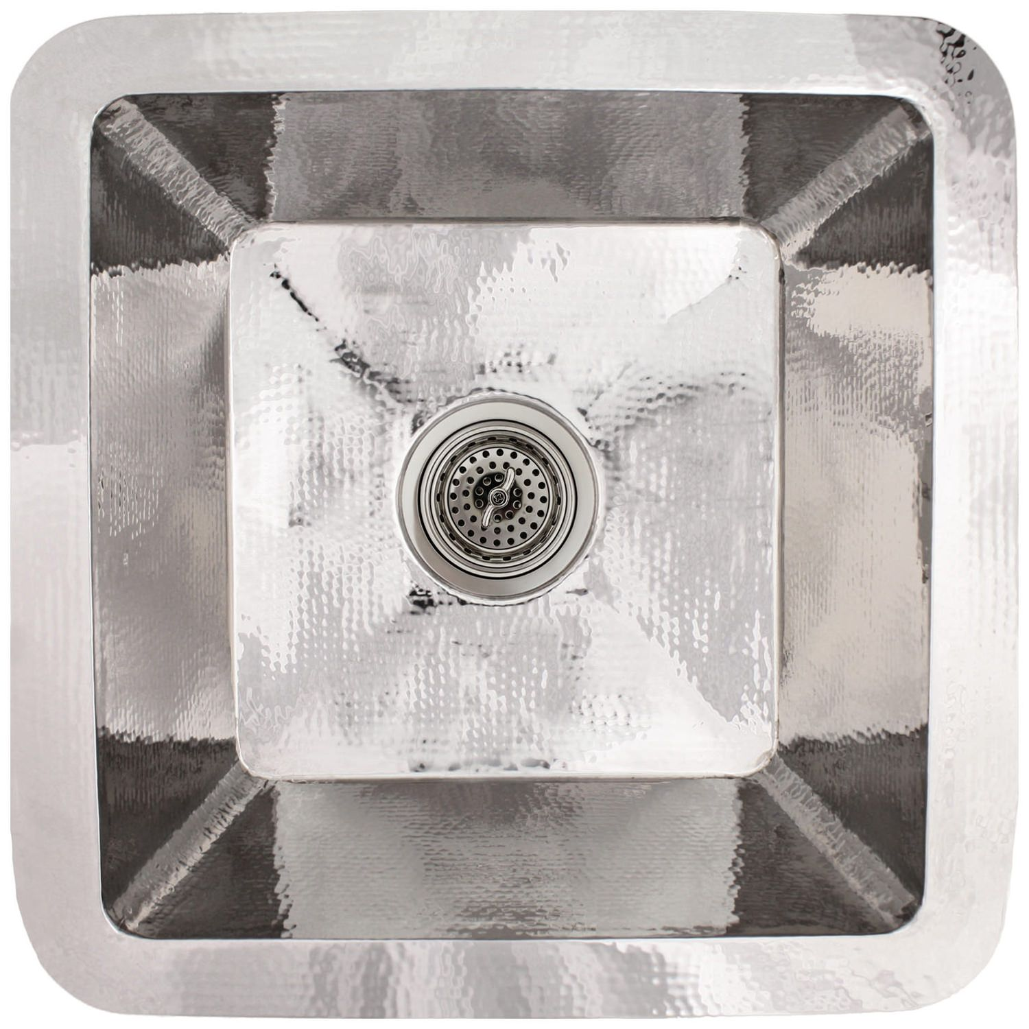 "Linkasink Kitchen Sinks - C008-PS Stainless Steel - Large Square Prep Sink - 3.5"" drain - Polished"
