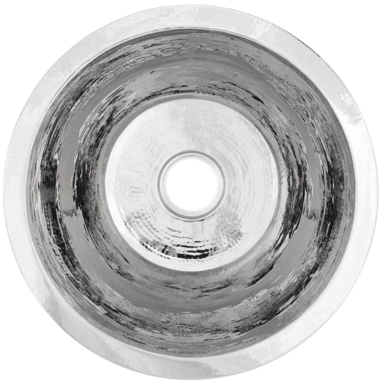 "Linkasink Kitchen Sinks - C017-PS Stainless Steel - Small Flat Round Sink - 3.5"" Drain - Polished"