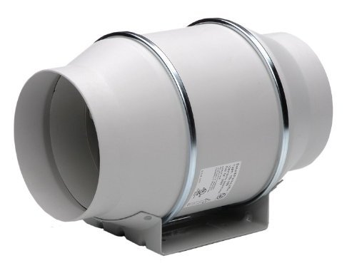 "S&P Soler & Palau Ventilation Fans - TD-125 5"" Duct Inline Mixed Flow Duct Ventilation Fan - H 197 cfm L 149 cfm"