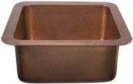 Thompson Traders Sinks - Kitchen Bar & Prep - Copper - Rivera NS25033H Hammered - Antique Copper