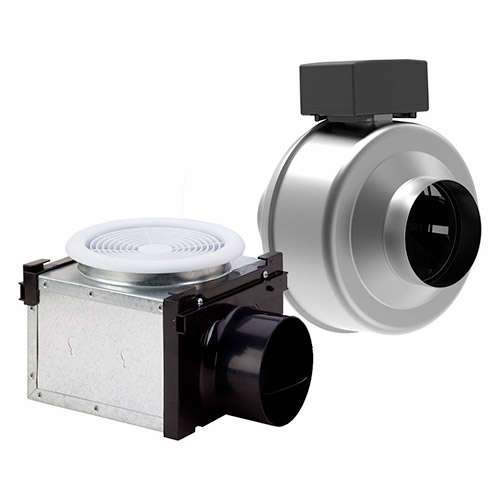 Fantech Bathroom Fan PB110 - Vent Only Single Grille 110 cfm - 4 Inch Duct