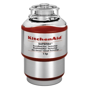 KitchenAid - KCDS100T - 1 HP Motor - Continuous Feed Garbage Disposer