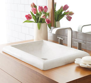 Native Trails Bathroom Sinks - NativeStone - Montecito NSL2216-P - Pearl