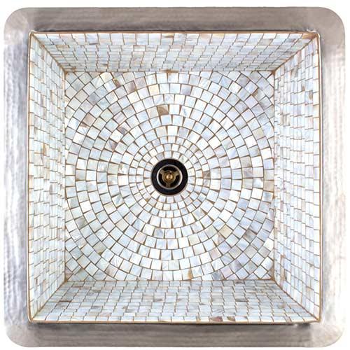 187 kitchen 187 kitchen sinks 187 nativestone 187 farmhouse double bowl - Linkasink Bar Sinks V008 Mop Square Copper Mosaic Tile Sink 16 X 16