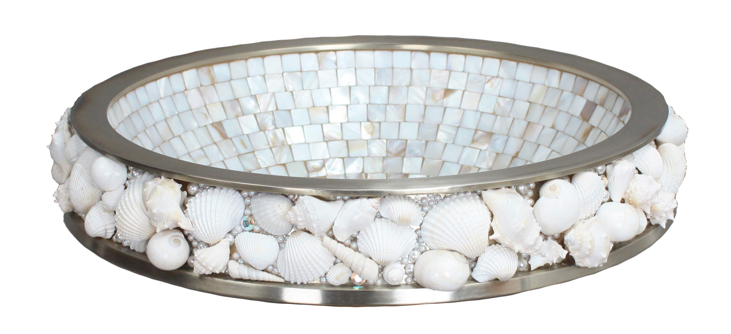 Shell Bathroom Sink : Bathroom Sinks - Jewelry - PSC08-WB Sea Shell Bathroom Vessel Sink ...