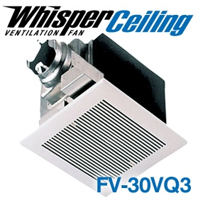 Panasonic Fans - WhisperCeiling - FV-30VQ3 Bathroom Ventilation Exhaust Fan - 290 cfm - 2.0 Sones - 6 Inch Duct