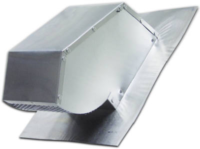 "Lambro Industries - Roof Caps - Aluminum with Damper & Screen - Fits up to 10"" Round & 3.25"" x 10"" Duct - Model 107"