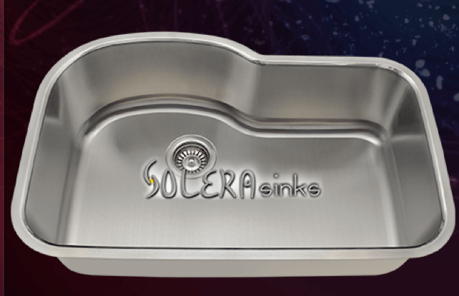 "Solera Sinks - Kitchen - Stainless Steel S643 Kitchen Sink - 31 3/8"" x 20 1/2"" x 9"""